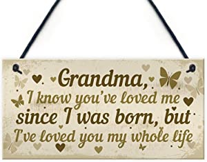 "Meijiafei Hanging Plaque Birthday for Grandma Loving Thoughtful Present 10"" X 5"""