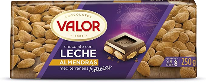 Chocolates Valor - Choholate con y Marconas Enteras - 250 g - [pack de 4]: Amazon.es: Alimentación y bebidas