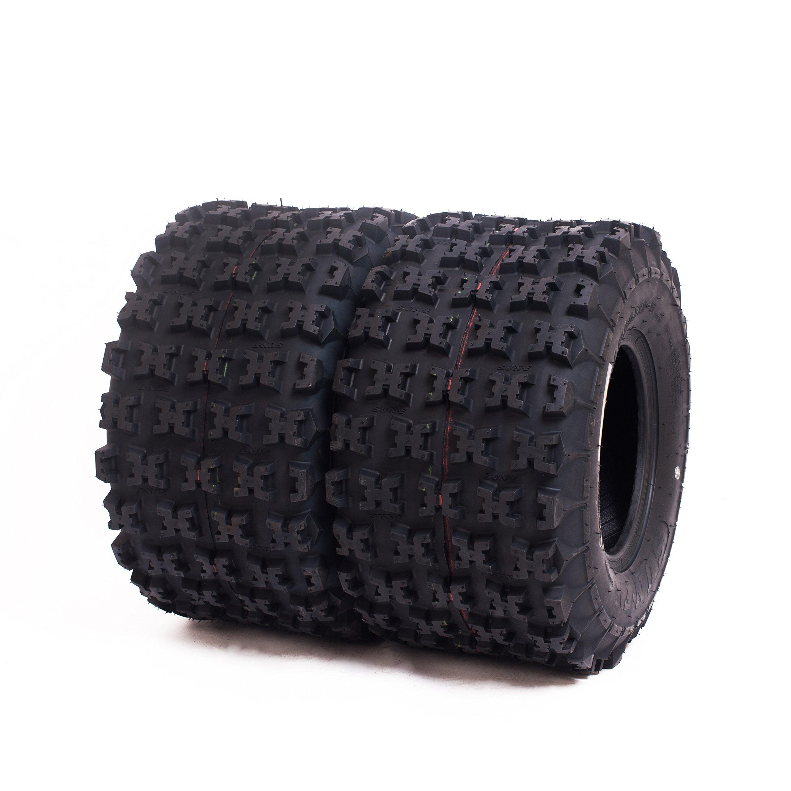 Set of 2 SunF A027 ATV Tire 20x11-9 Rear, 6 Ply