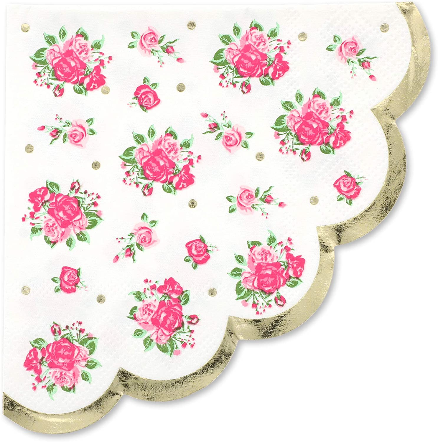 Amazon Com Juvale Vintage Floral Paper Party Napkins Scalloped