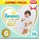 Pampers Premium Care Pants Diapers, Size 6, Extra Large, 16kg, Jumbo Pack, 36 Count