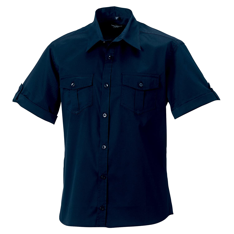 Russell Collection Herren Hemd Hemd Hemd Arbeitshemd, Kurzarm B00K3DXL0K Business Viele Stile b3a827