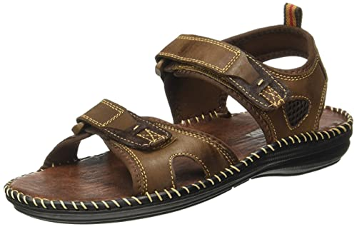 fb40e337ea88 Action Shoes Men s Coffee Leather Sandals - 6 UK India (39.5 EU)(NL ...