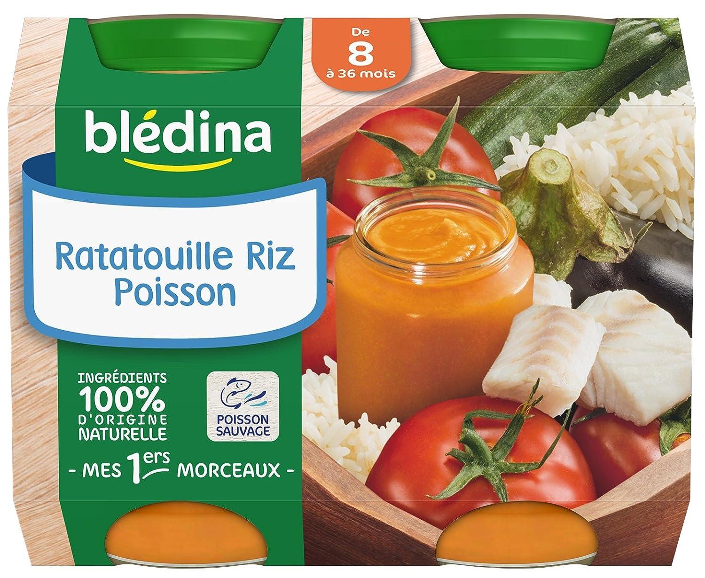 Blédina Petits Pots Ratatouille Riz Poisson de 8 à 36 mois 2 x 200 g - Pack de 6 BLEDINA 3041091022998