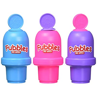 Little Kids Fubbles No Spill Bubble Tumbler Mini 3 Pack Party Favor Set, Includes 2oz of bubble solution and a wand per bottle (assorted colors): Toys & Games