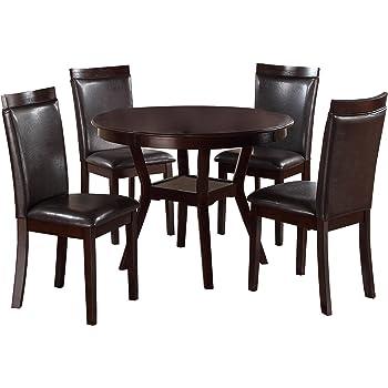 Homelegance Shankmen Round 5 Piece Dining Set, Espresso