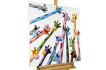 Handgemalte Bilder Auf Leinwand amazon de kunstloft acryl gemälde oben 80x80cm original