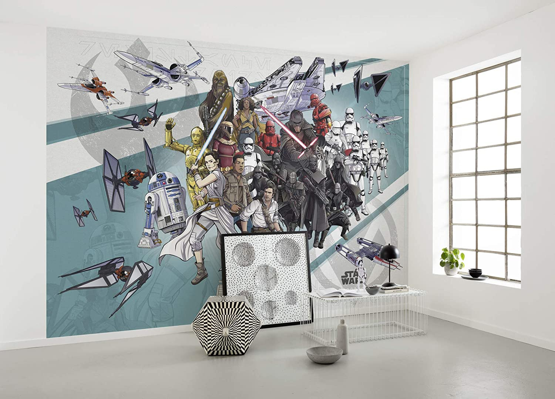 Komar Star Wars Fleece Photo Wallpaper Fleece Colourful 400 X 280 Cm Breite X Hohe Bahnbreite 50 Cm Amazon Com