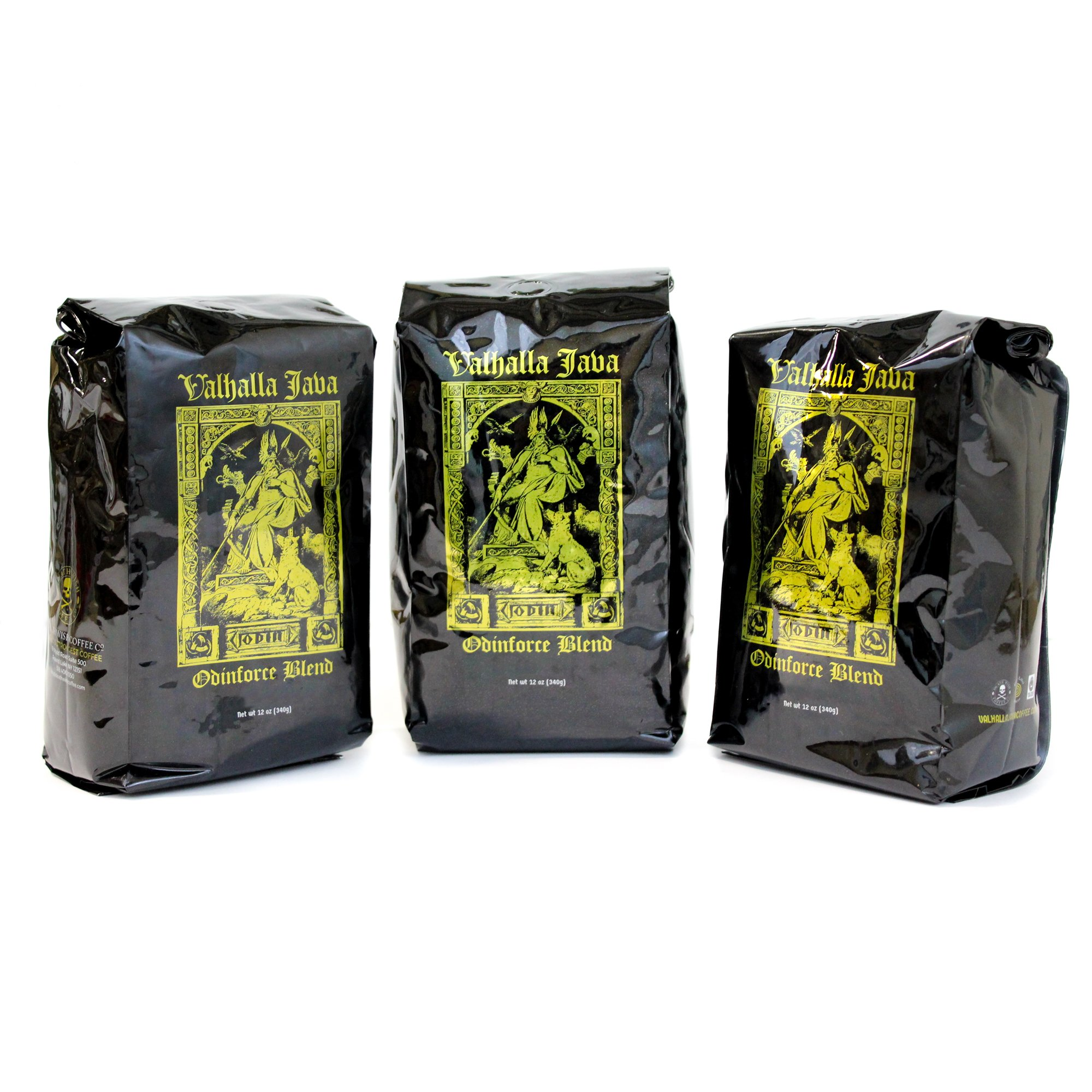 Valhalla Java Ground Coffee Bundle Deal, USDA Certified Organic & Fair Trade (3-Pack)