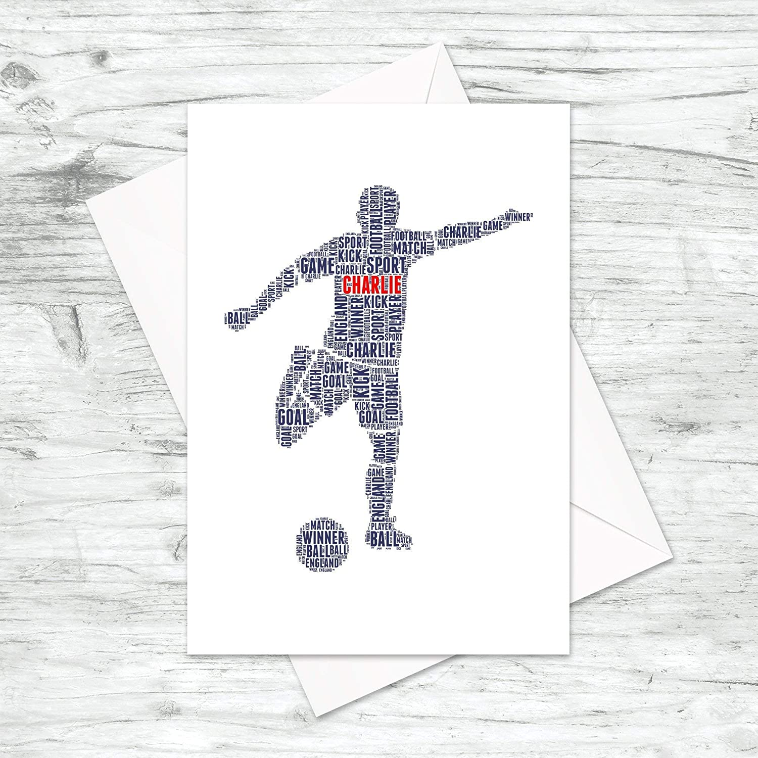 Personalised Football Player Word Art Print A5 A4 Prints