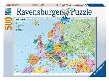 Ravensburger political map of europe 500pc jigsaw puzzle amazon ravensburger political map of europe 500pc jigsaw puzzle gumiabroncs Images