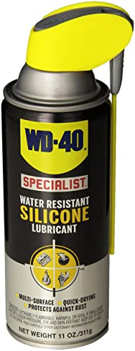 WD-40 Specialist Water Resistant Silicone Lubricant with Smart Straw Sprays