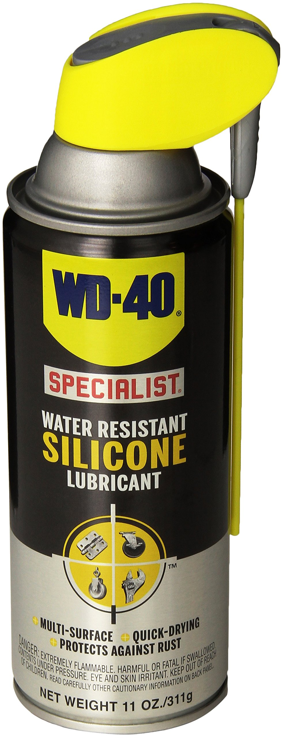 WD-40 Specialist Water Resistant Silicone Lubricant with SMART STRAW SPRAYS 2 WAYS 11 OZ [6-Pack] by WD-40