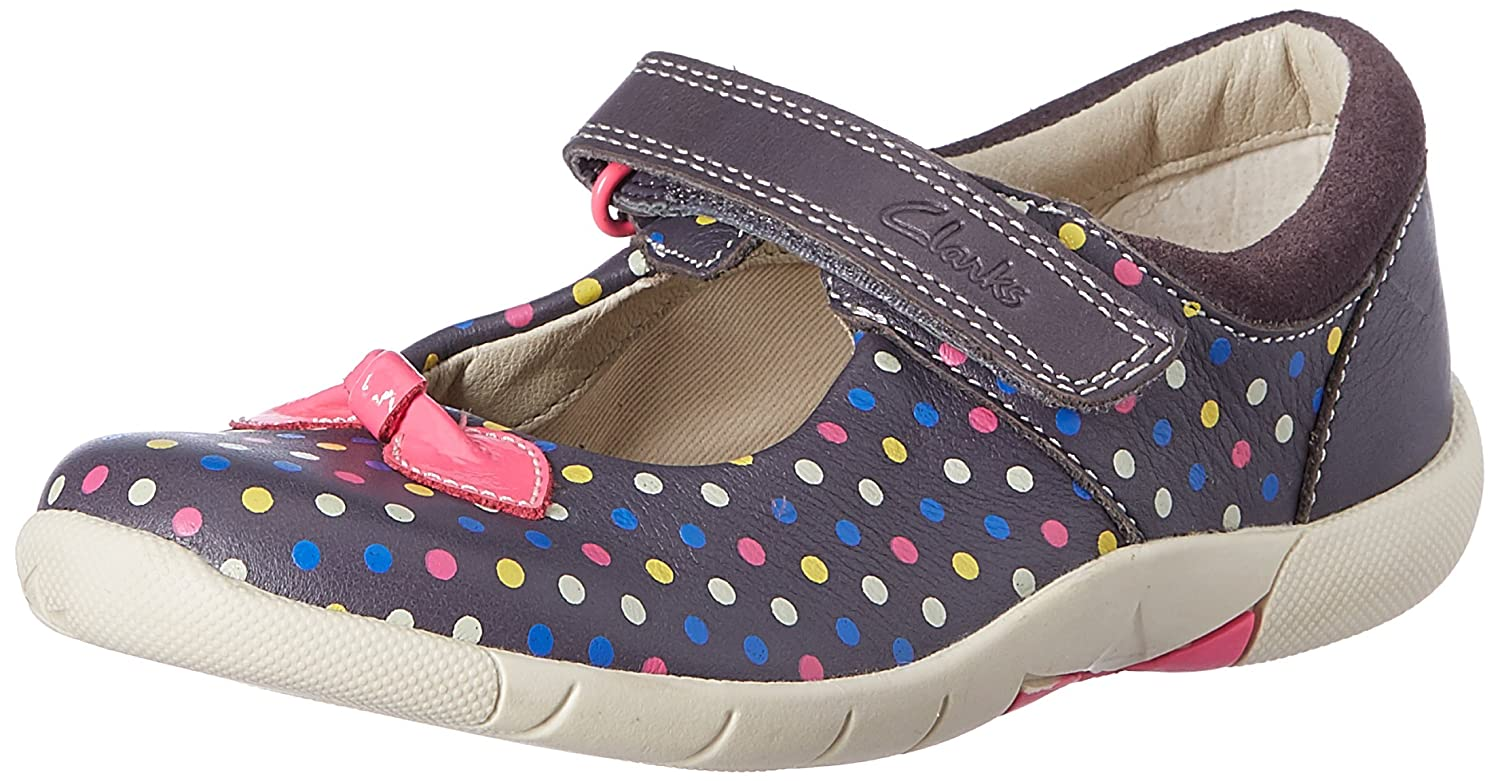Clarks BinnieDots Inf, chaussures compensées fille