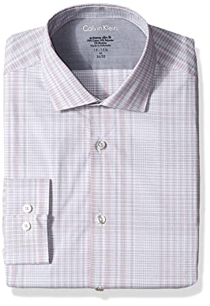 0a9a2b984773 Calvin Klein Men's Dress Shirts Xtreme Slim Fit Check Thermal Stretch at  Amazon Men's Clothing store: