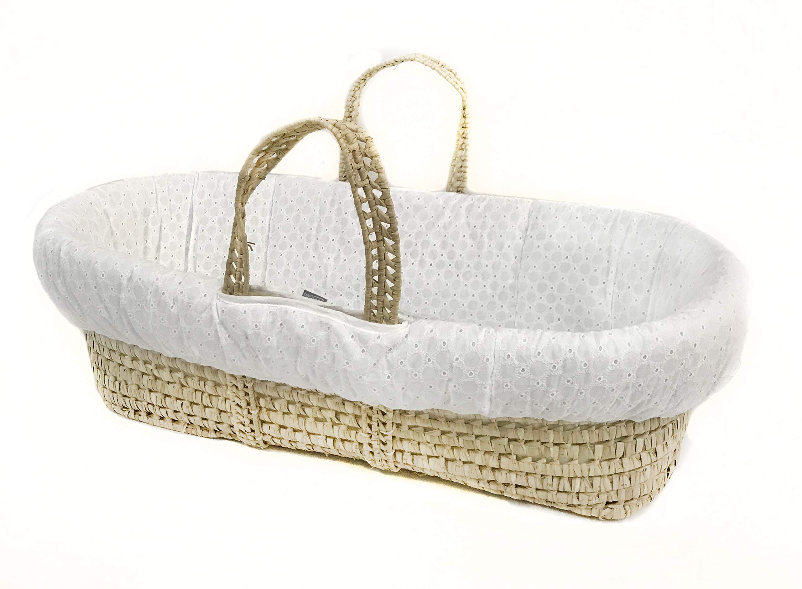 Tadpoles Moses Basket Bedding Only, Eyelet, White, One-Size by Tadpoles