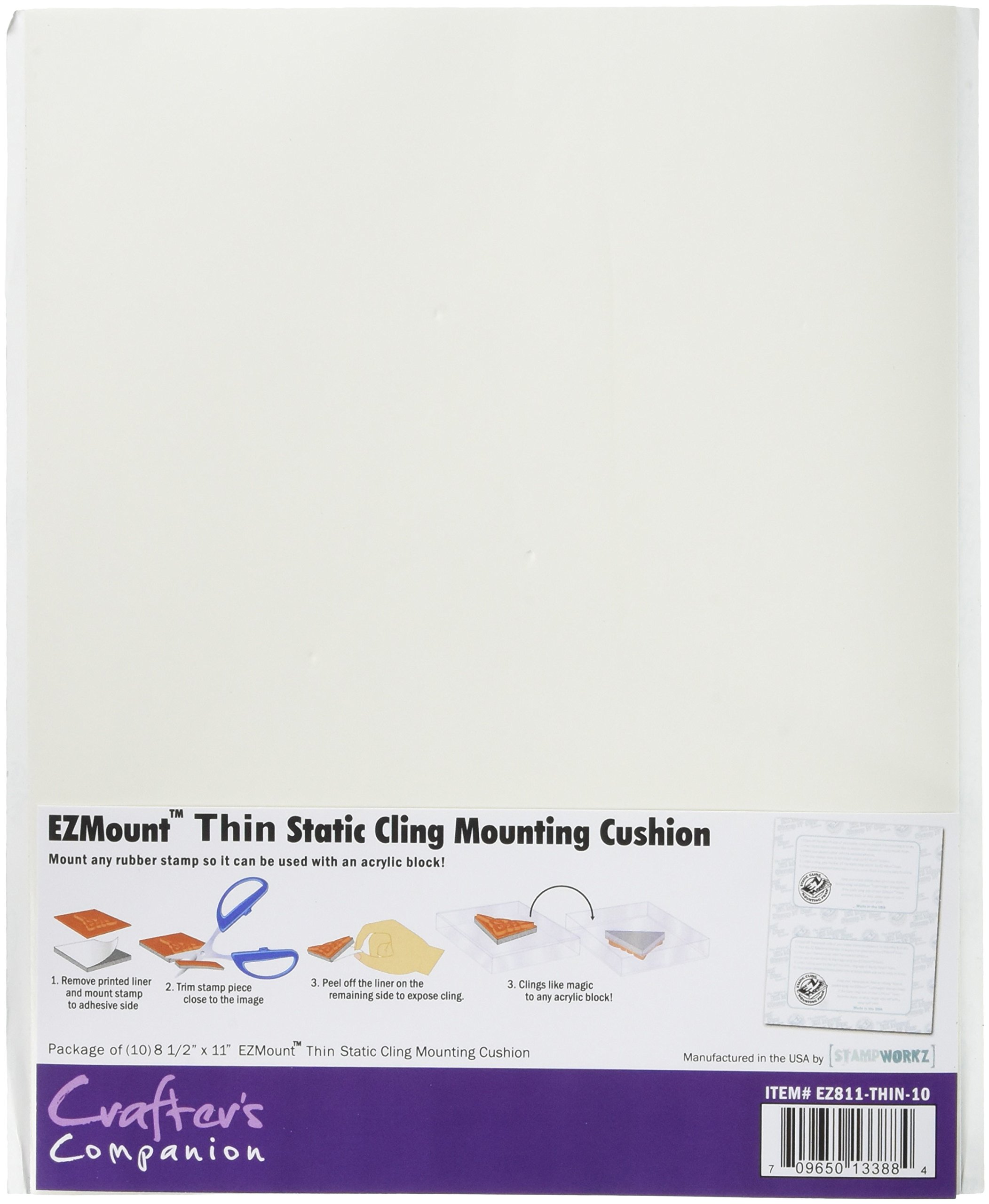 Crafter's Companion Ez Mount Static Cling Mounting Foam 8.5''X11''-(for Stamps Already With Foam)