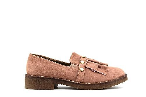 Modelisa - Mocasin Flecos Detalle Perlas Mujer: Amazon.es: Zapatos y complementos