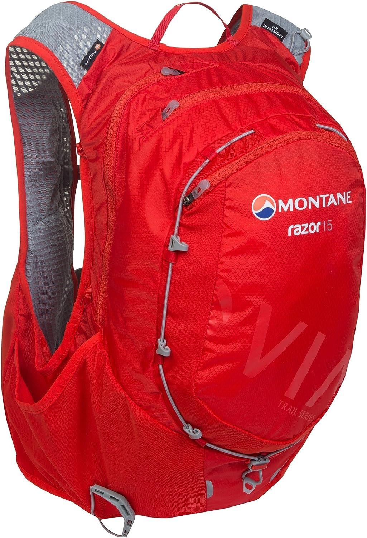 Montane VIA Razor 15 Ultra Distance Trail Running Backpack, Flag Red, M L, PRA15FLAM5