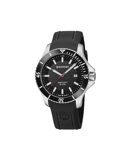 Wenger/SwissGear Reloj Analogico para Unisex de Cuarzo con Correa en Silicona 01.0641.117: WENGER: Amazon.es: Relojes