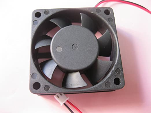 2 pcs Brushless DC Cooling 7 Blade Fan 6020S 12V 60x60x20mm Sleeve Bearing 2Wire