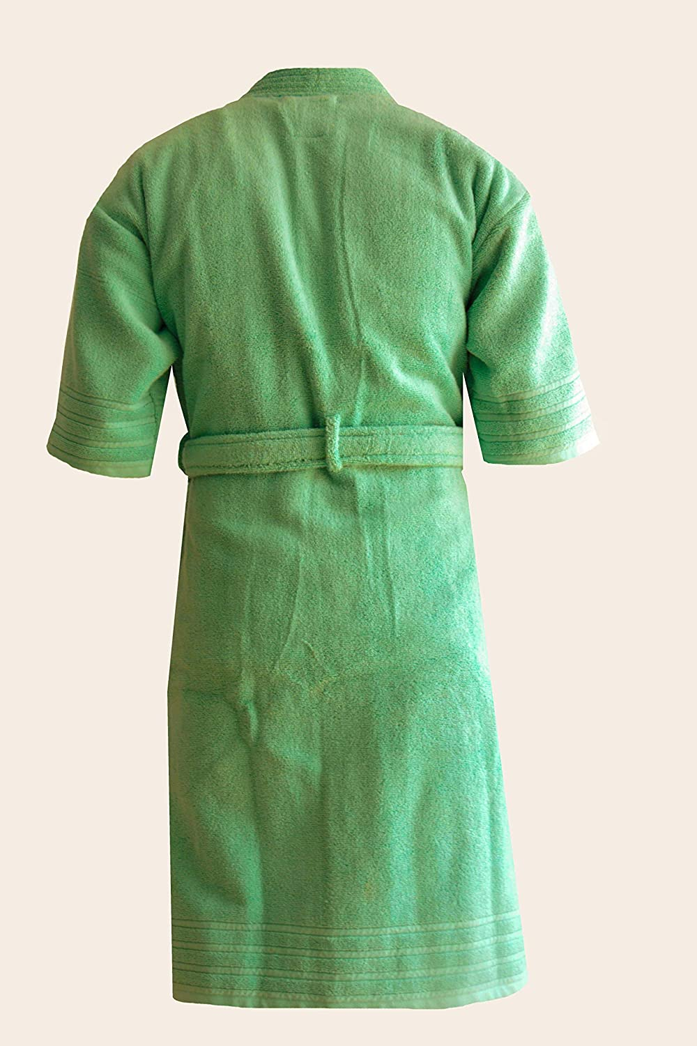Buy Loomkart Very Fine 100% Cotton Export Quality Bath Robes in Green in Avioni  Zip-Packing- Standard Size Online at Low Prices in India - Amazon.in 41e76523f