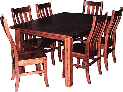 Cherry Wood Dining Room Table for 6 – 8, Table Only, No Chairs, Expandable Hardwood Amish Made Heirloom Dining Room Furniture, Custom Made, White Glove Delivery, 2- 12 Inch Leaves, 42 x 60