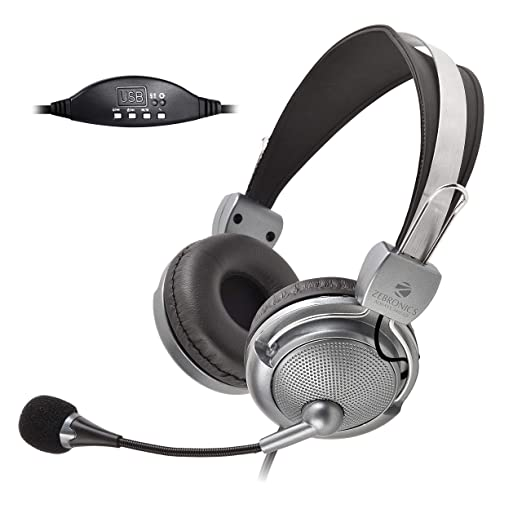 Zebronics Zeb Supreme USB Wired Headphone with Mic PC Headsets