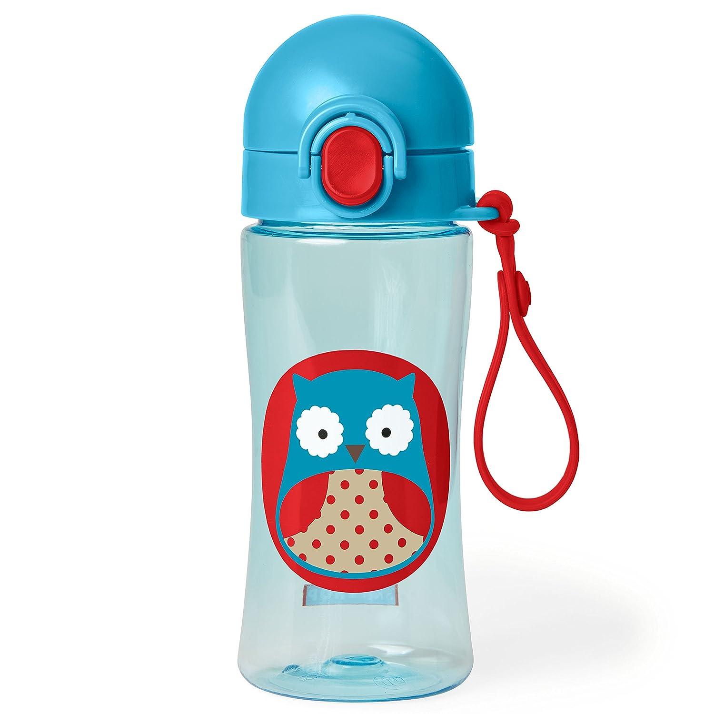 Skip Hop Zoo Lock-Top Sports Bottle - Owl, Blue 252625