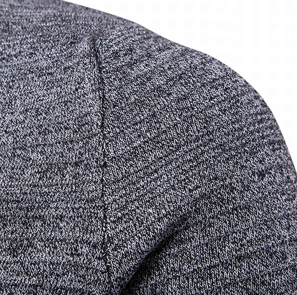 ouxiuli Mens Basic Crew-Neck Party Sports Sweaters Cardigan