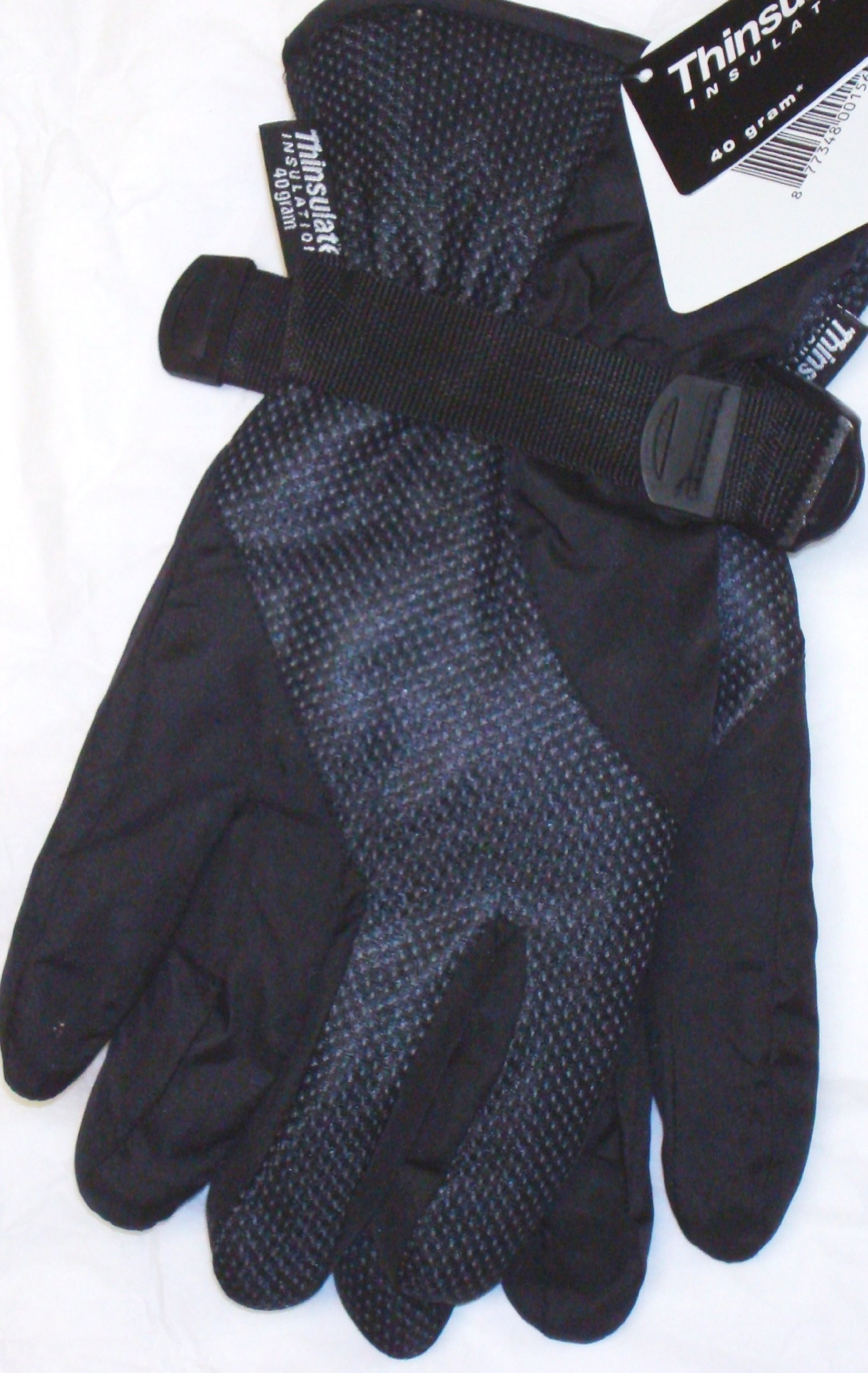 Waterproof Black Color Ski Gloves Thinsulate Lining for Women Size Med/ Large