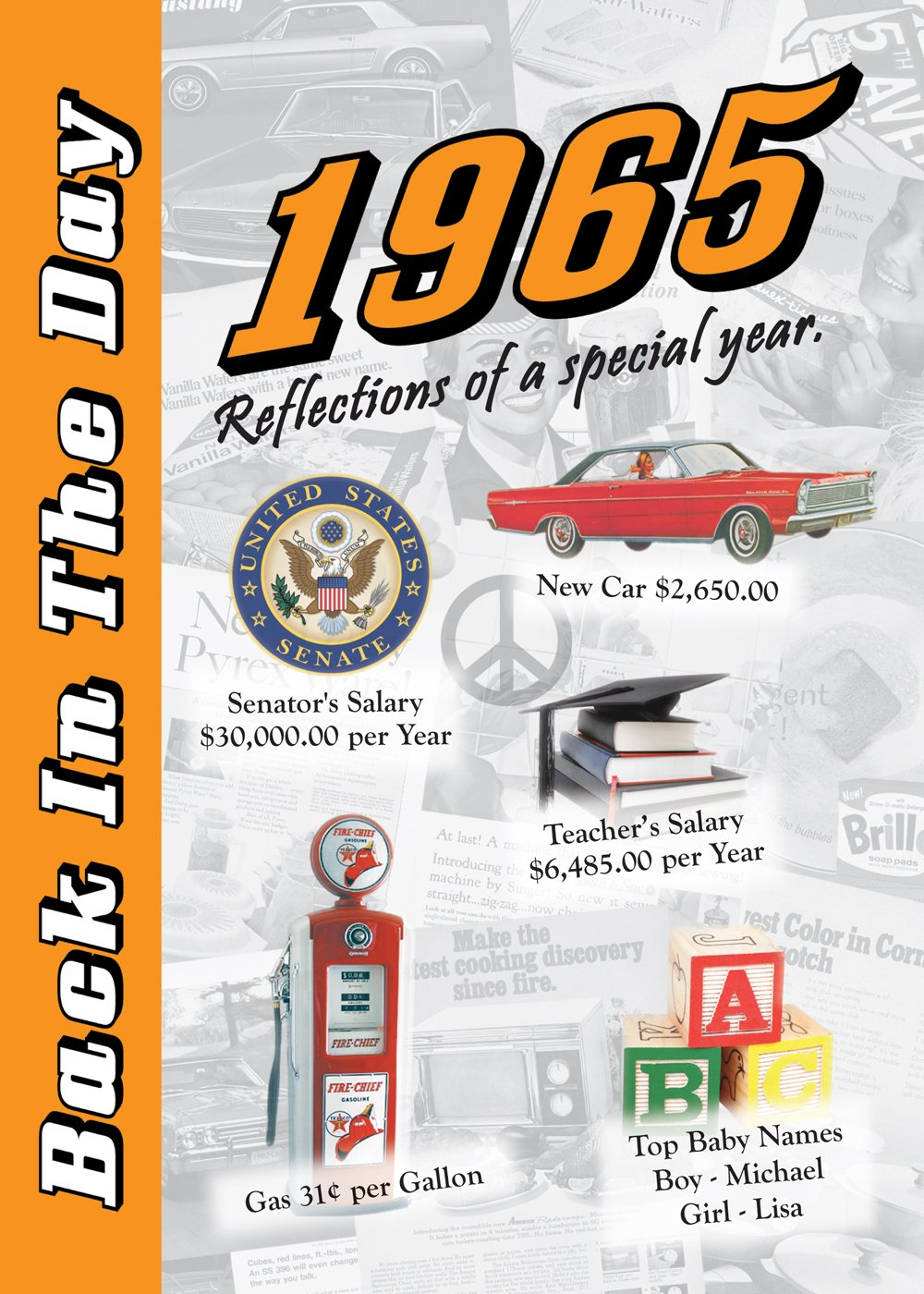 1965 Back In The Day Almanac -- 24-page Booklet / Greeting Card