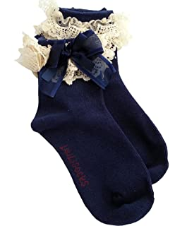 Baby//Girl Pack of 2 WHITE Super Soft Lace Frilly Ankle Socks Age 1 2 3 4 5 6 7