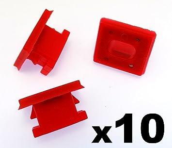 10x Remaches Plásticos - Salpicadero Molduras Rallas Ojal Rojo Clips para A rayas Inserto E46 - Coche Grapas (51458266814) - Franqueo libre!: