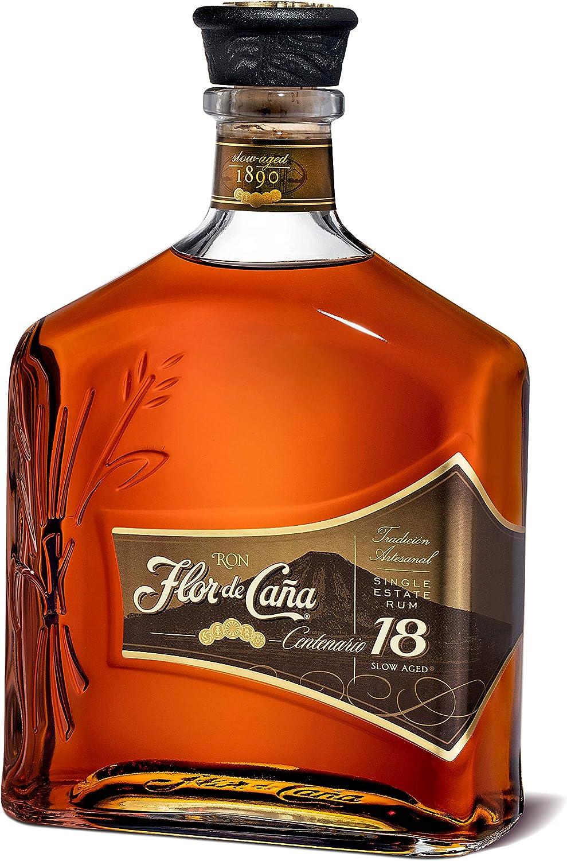 Ron Flor de Caña 18 Años - 1 botella de 70 cl