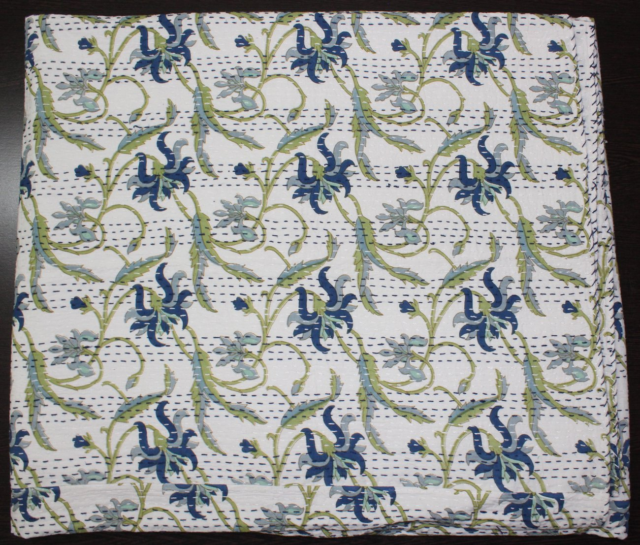 Mangue Gifts x Courtepointe Coton Indien Couvre-lit fabriqu/é par des Artisans de lInde 223,5/x 269,2/cm Environ