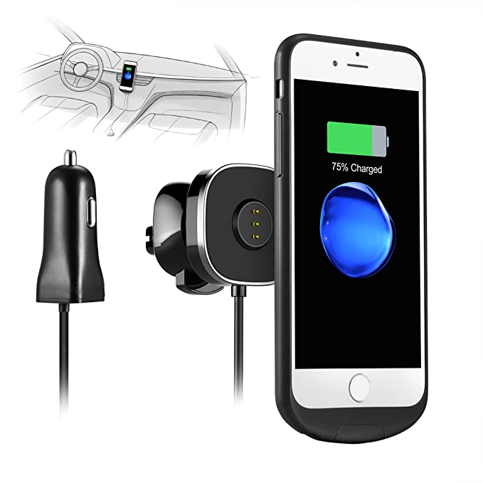 amazon com destek dt200 001 white new sonicpower iphone 6 2h fully charged conductive wireless charger for car charging case and magnetic mount