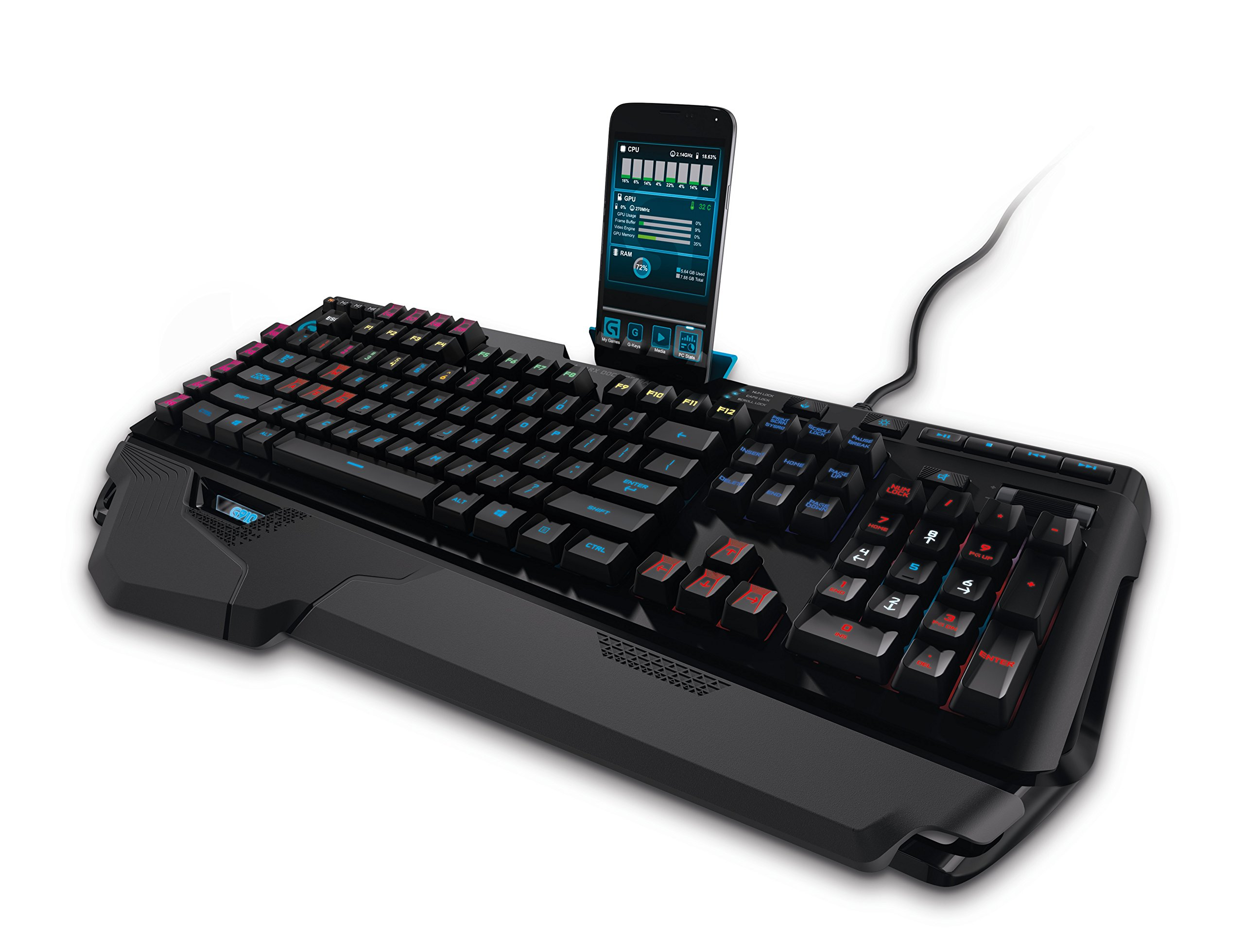Logitech G910 Orion Spark RGB Mechanical Gaming Keyboard – 9 Programmable Buttons, Dedicated Media Controls by Logitech (Image #7)