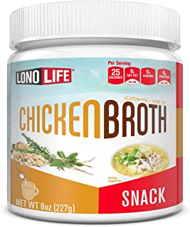 product image for LonoLife Chicken Broth Snack, 8oz Bulk Container, 30 Servings