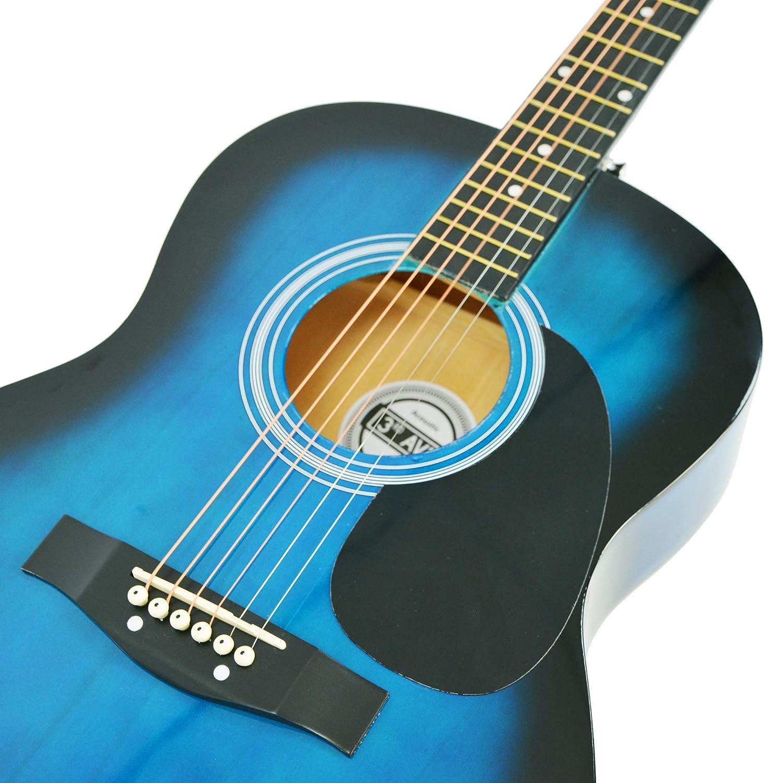 Azul 3rd Avenue STX10ABBPK Paquete est/ándar Paquete de guitarra ac/ústica Blueburst Ac/ústico