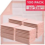 """Premium Disposable Underpads 30""""x36"""" (Packed 4x25 Case) Ultra Absorbent Chux Incontinence Bed Pads, Pet Training Pads X-Large"""