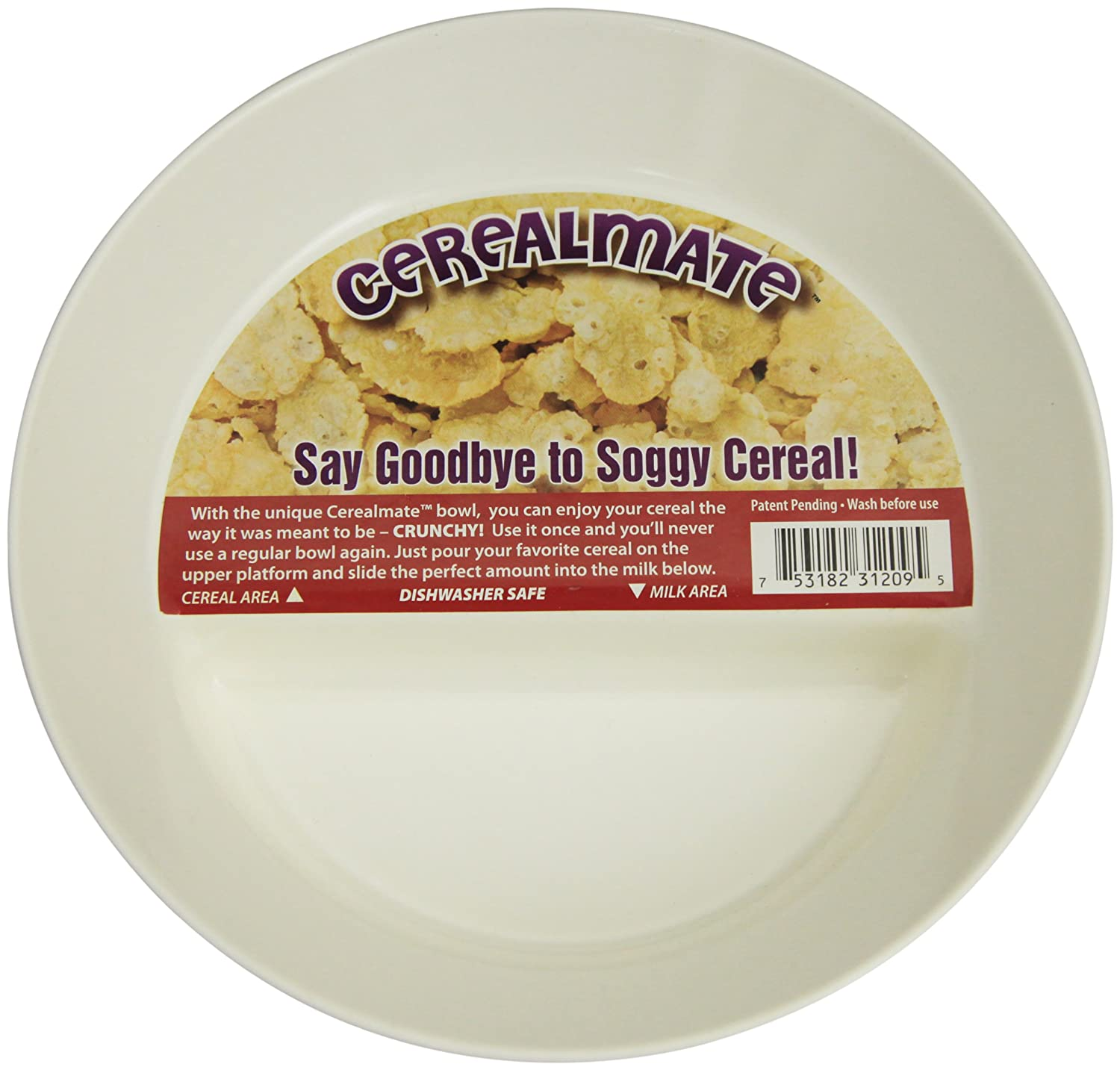 Just solutions always crunchy never soggy innovative cereal bowl always crunchy never soggy innovative cereal bowl by just solutions amazon kitchen home ccuart Gallery