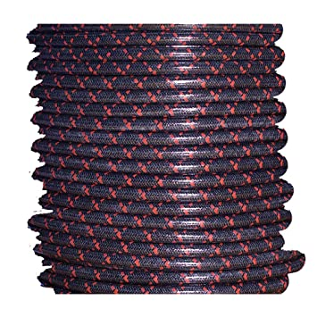 Amazon.com: Cloth Braided Spark Plug Wire - Black with Red Tracers ...
