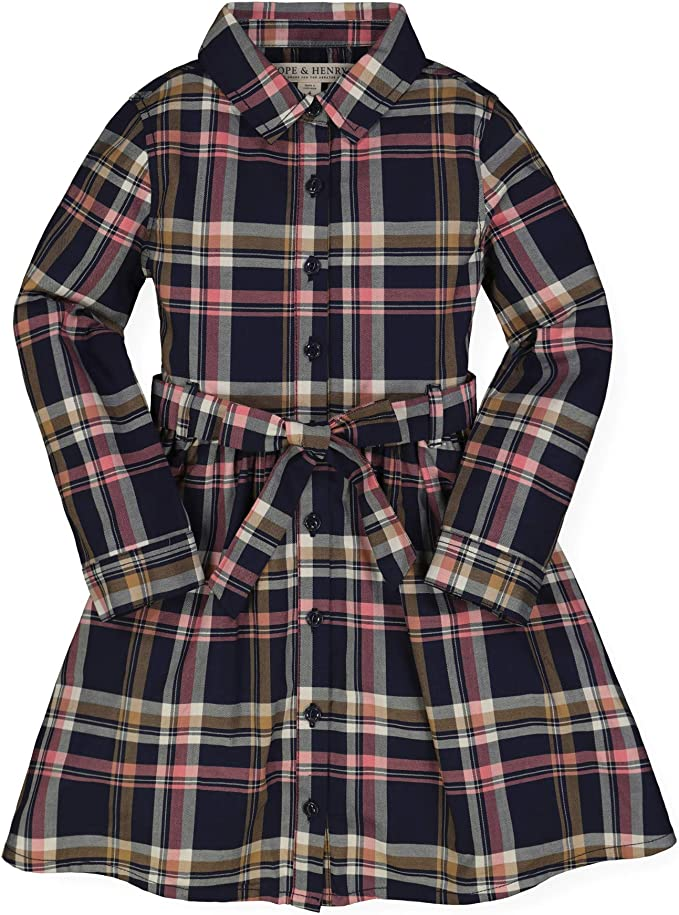 1940s Children's Clothing: Girls, Boys, Baby, Toddler Hope & Henry Girls Tie-Waist Shirtdress $29.95 AT vintagedancer.com