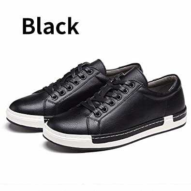 Drawingo Autumn New Casual Shoes Mens Leather Flats Lace-up Shoes Simple Stylish Male Shoes