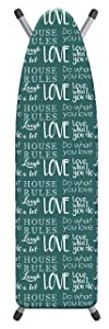 """Laundry Solutions by Westex House Rules Deluxe Triple Layer Extra-Thick Ironing Board Cover and Pad, 15"""" x 54"""", IB0327"""