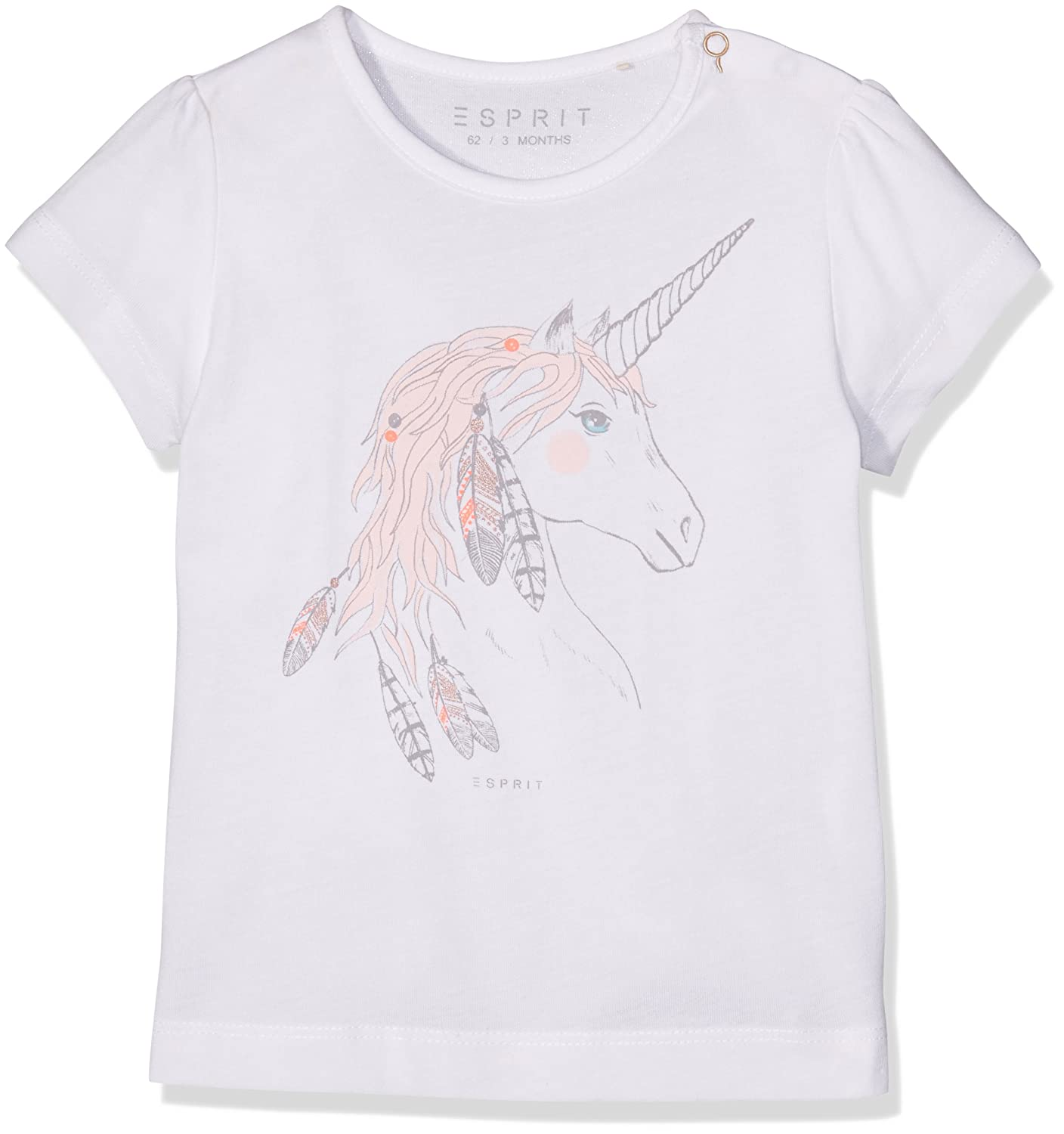 ESPRIT Kids Baby Girls' Filipa T-Shirt White 0-3 Months (Size:62) RJ10031