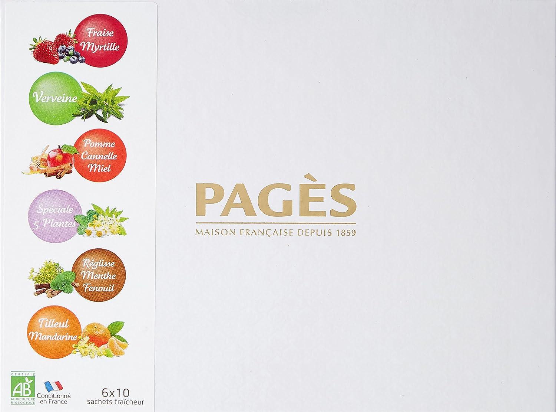 9dad709798b Pagès Coffret en carton d infusions Bio 60 sachets  Amazon.fr  Epicerie