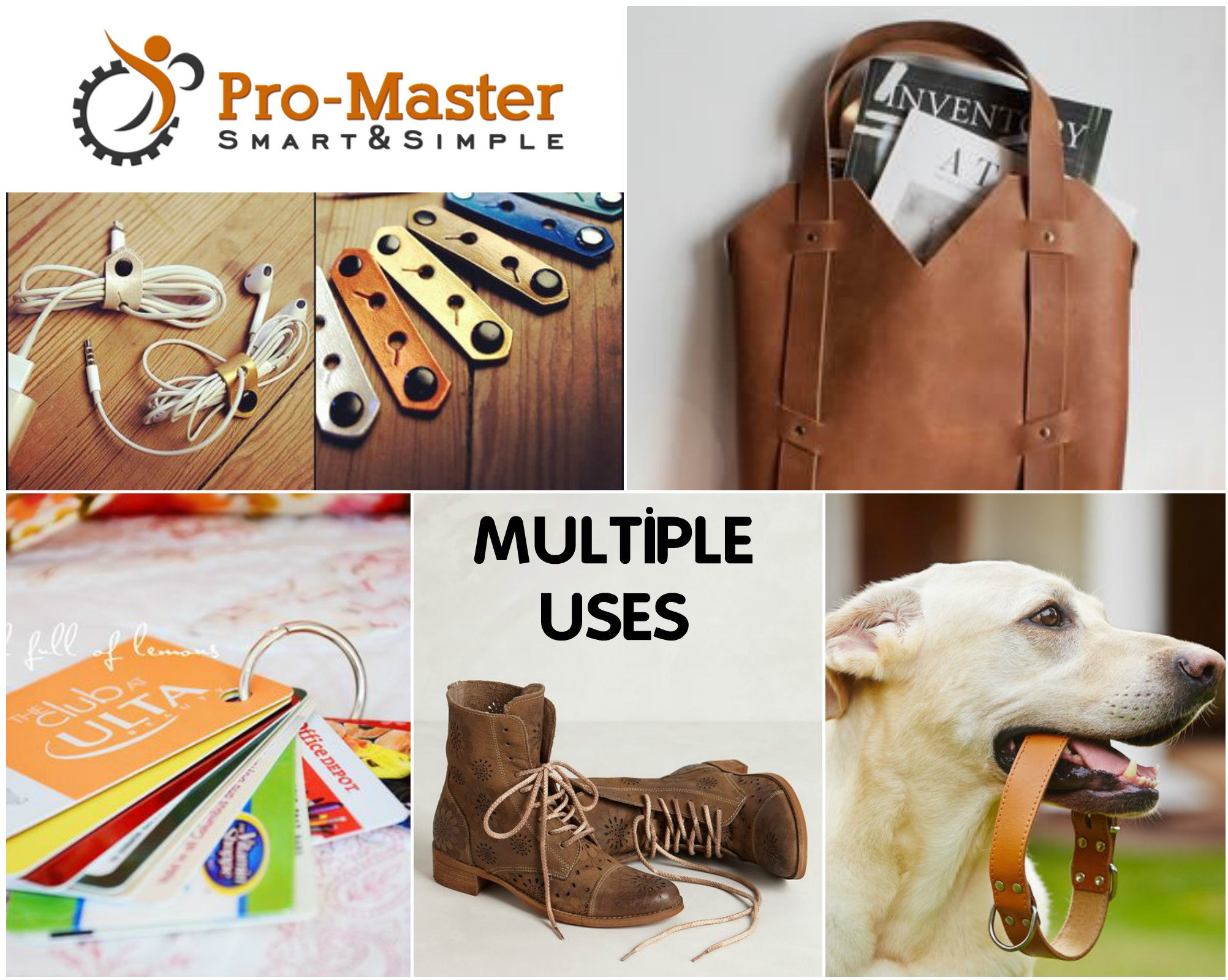 Best Leather Hole Punch Set for Belts, Watch Bands, Straps, Dog Collars, Saddles, Shoes, Fabric, DIY Home or Craft Projects. Super Heavy Duty Rotary Puncher, Multi Hole Sizes Maker Tool, 3 Yr Warranty by ProMaster (Image #8)