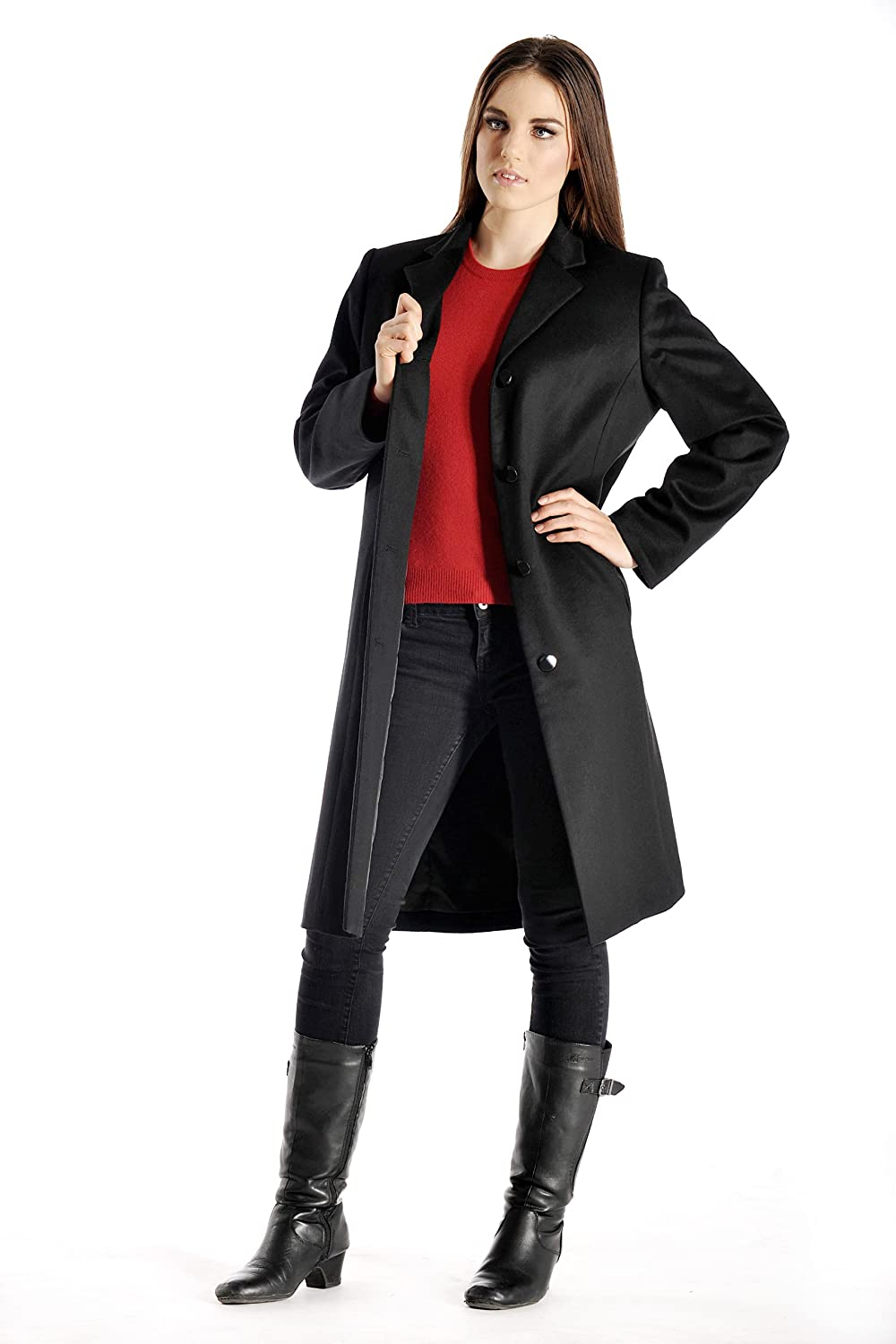 Amazon.com: Women's Full Length Overcoat in Pure Cashmere: Clothing